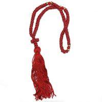 50 knot komboskini prayer rope cross burgundy