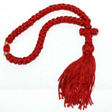 50 knot komboskini prayer rope cross red
