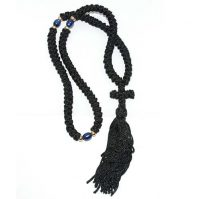 50 knot komboskini prayer rope cross black