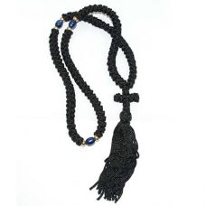 50 knot komboskini prayer rope cross black