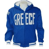 Greece Hoodie Jacket Blue