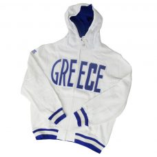 Greece Kids White Hoodie Jacket