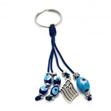 greek flag evil eye keychain