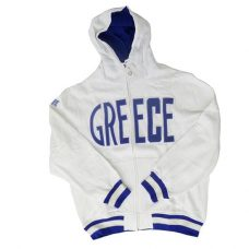 GREECE WHITE HOODIE JACKET