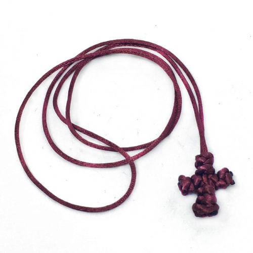 Maroon-Komboskini-Cross-Necklace
