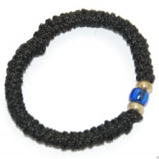 Hand Made Stretch Komboskini Bracelet with Blue Bead
