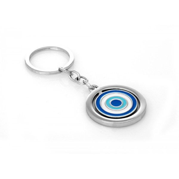 Revolving Evil Eye Key Chain