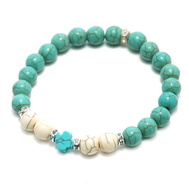 turquoise-bead-cross-bracelet
