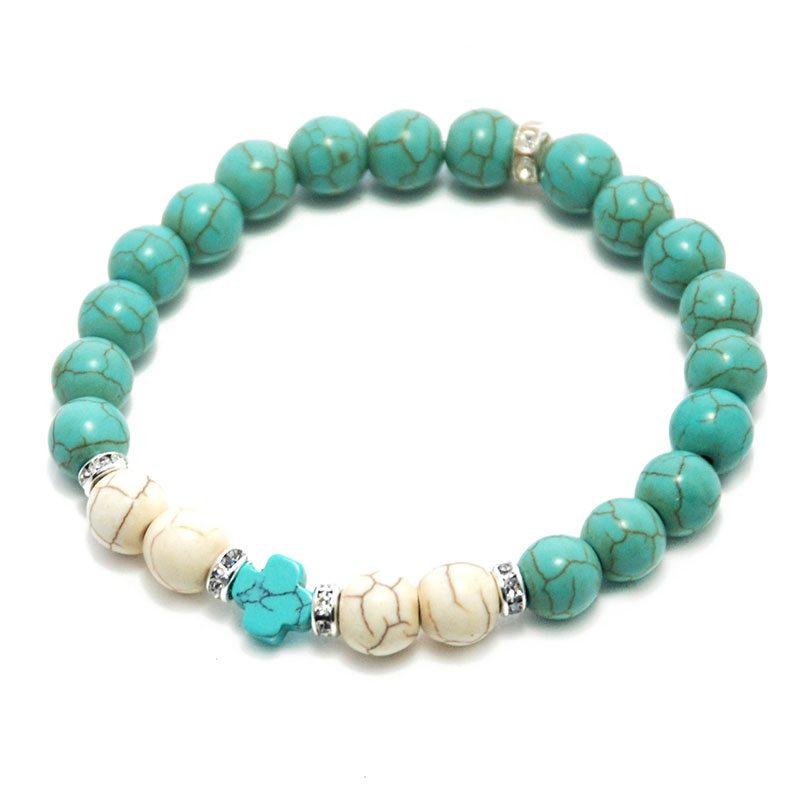 Santorini Turquoise Cross Bracelet Greek Gift Shop