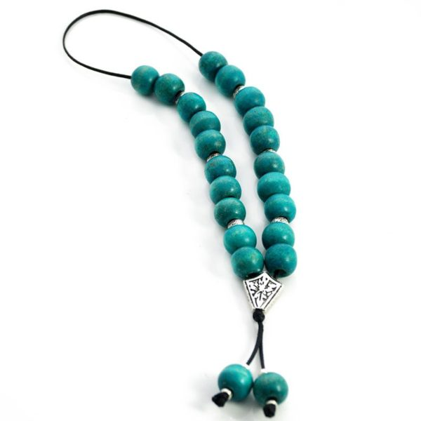 Wooden Komboloi Worry Beads - Turquoise