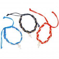 Braided Adjustable Bracelet with Cross