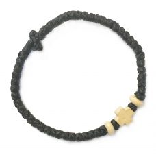 Thin Komboskini Bracelet with Wooden Cross