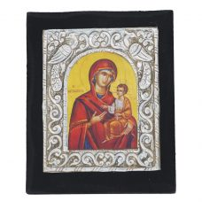 metalic panagia isous small icon