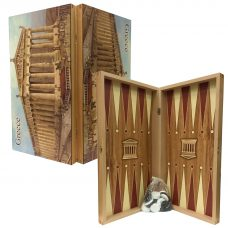 Acropolis Tavli Board Set (Greek Backgammon)
