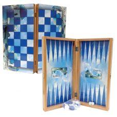 Greek Island Tavli Board Set (Greek Backgammon)