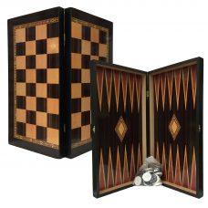 Classic Tavli & Chess Board Set