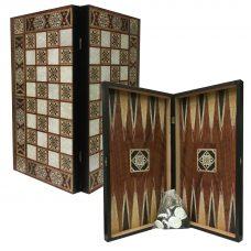 Tile Design Tavli Chess Set