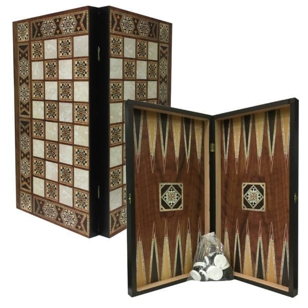 Tile Design Tavli Chess Set
