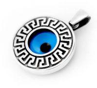 Greek Key Mati Pendant