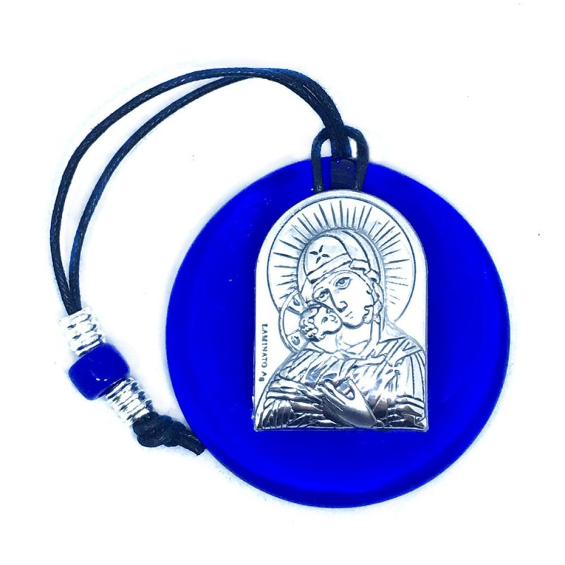 Small_Blue-Glass-Virgin-Mary-and-Jesus-Silver-Icon